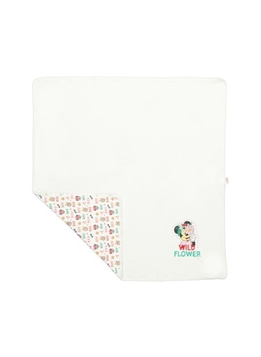 Minnie Mouse Lisanslı Bebek Penye Battaniye 80X85 Ekru